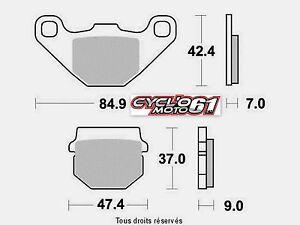 Rear Brake Pads Quad E-Ton Viper 50/70/90 2005 2006 (S1087