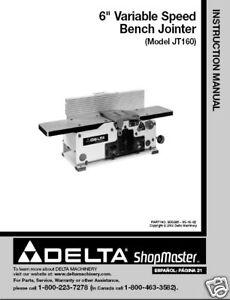 Delta Jointer Manual