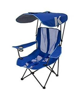 camping chairs with canopy yellow fabric dining room oversized chair blue folding outdoor sports image is loading