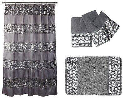 popular bath sinatra silver cortina de ducha alfombra conjunto de toallas de 3 piezas y ebay