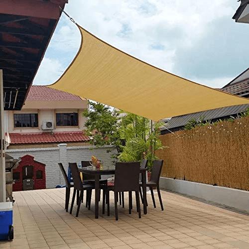 jesasy rectangle shade sails 10 x 20 sun sail uv block fabric patio