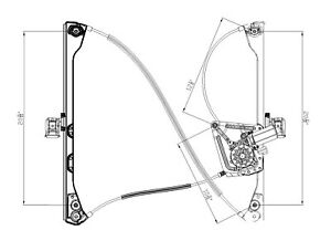 Front Right Window Regulator For 2002-2007 Buick