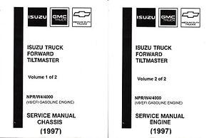 1996 1997 Isuzu NPR, GMC Chevy W4 4000 Gas Truck Repair