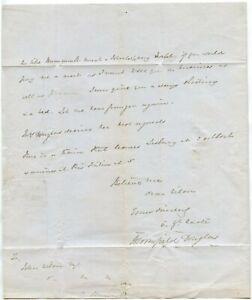 guaranteed 100% authentic 1849 LETTER LT.DOUGLAS COAST