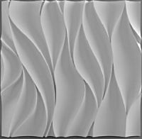 Wawe Plastic Molds for 3 D Panels Plaster wall stone Form ...