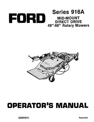NEW HOLLAND Ford SE4354-b Series 916A Mid Mount DD Rotary