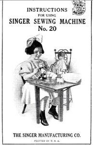 Singer 20 vintage toy child sewing machine manual