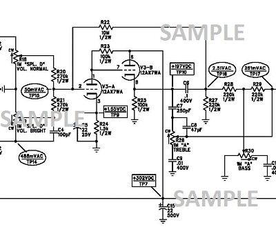 Fender 57 Twin Guitar Tube Amplifier Schematic Diagram pdf