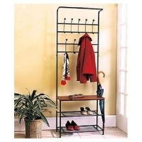 Coat Rack Shoe Rack Entryway Bench Mud Room & Hat Rack