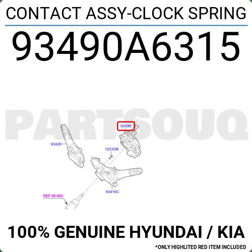 93490A6315 Genuine Hyundai / KIA CONTACT ASSY-CLOCK SPRING