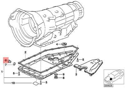 Genuine BMW E31 E32 E34 E38 Oil Pan Gasket Ring Screw Plug