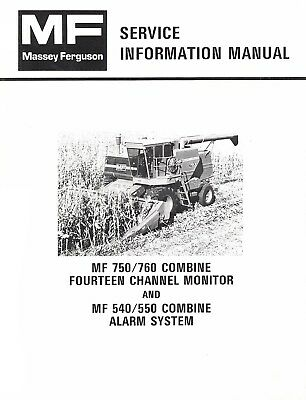 Massey Ferguson MF 750 760 Combine 14 Channel Monitor 540
