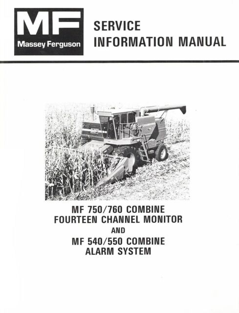 Massey Ferguson MF 750 760 Combine 14 Channel Monitor 540