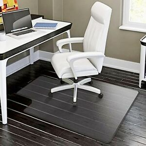 office chair rug modern wicker 48 x36 plastic floor mat clear protector details about computer desk