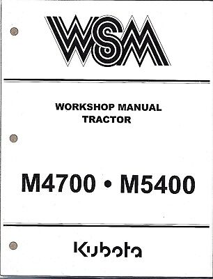 Kubota M4700 M5400 Tractor Workshop Service Repair Manual