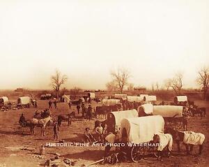 OLD WEST WAGON TRAIN COWBOYS PIONEERS SETTLERS VINTAGE