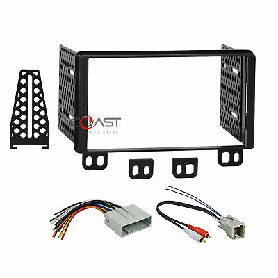 Car Radio Stereo 2 Din Dash Kit Wire Harness for 2003-06