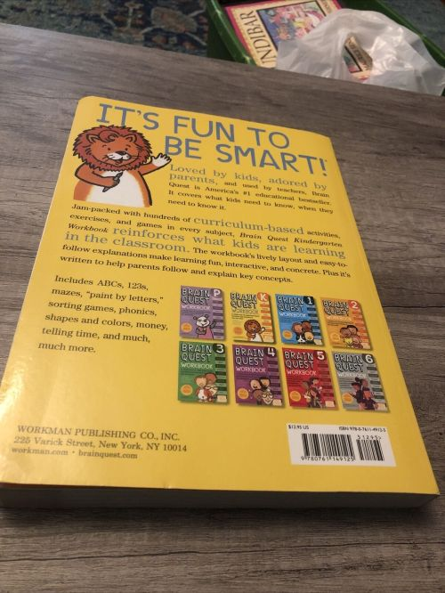 small resolution of Brain Quest Workbooks Ser.: A Whole Year of Curriculum-Based Exercises and  Activities in One Fun Book! by Lisa Trumbauer (2008