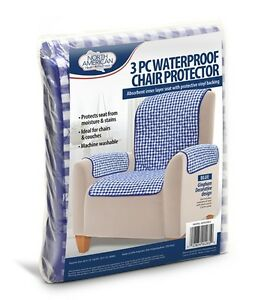 waterproof chair covers for recliners x8 wheelchair 3pc protector cover slip stain spill proof washable image is loading