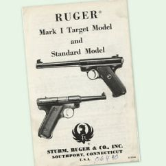 Ruger Pistol Parts Diagram 1981 Toyota Pickup Wiring Mark I Instructions Owners Gun Manual 1 One Diagrams Image Is Loading