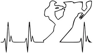 Snowmobile Heartbeat Vinyl Decal sticker SKI-DOO ARCTIC