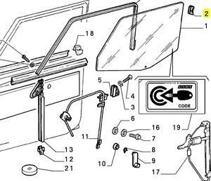 Fiat Panda Mk1 & Mk2 Door Glass Locating Guide Brand New