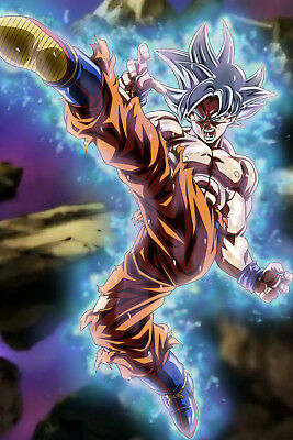 Dragon Ball Super Goku Ultra Instinct : dragon, super, ultra, instinct, Dragon, Super, Poster, Ultra, Instinct, Mastered, Kicking