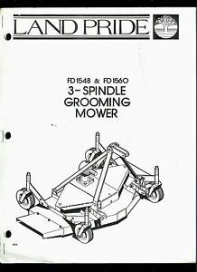 Land Pride FD1548/1560 3-Spindle Grooming Mower Orig Parts
