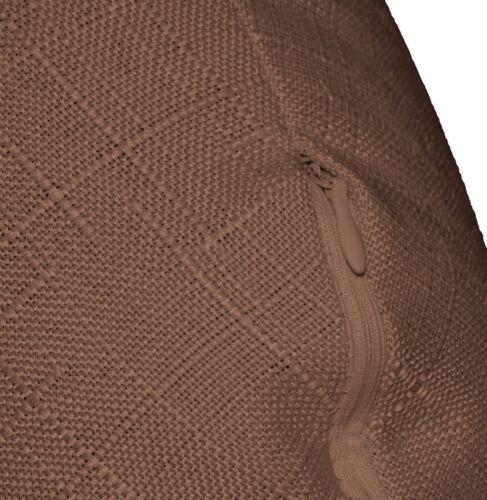 qh20n light brown linen cotton blend round cushion cover pillow case custom size
