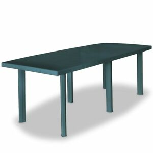 details about plastic garden table umbrella hole patio dining coffee tables furniture 210cm