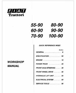 Fiat 55-90,60-90,70-90,80-90,90-90,100-90 Tractor Service