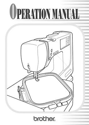 Brother PE 400D Embroidery Machine Owners Instruction