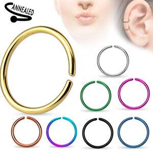 Nasenpiercing Septum Ring Tragus Helix Ohr Lippen Intim Fake Piercing Nasenring