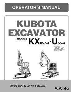 KUBOTA EXCAVATOR KX057-4 U55-4 TIER 4 OPERATOR MANUAL