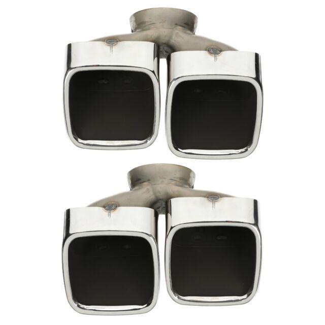 mopar oem 82214613 15 17 dodge challenger dual split quad chrome exhaust tip