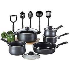 Kitchen Pot Sets Counters Lowes Cookware Set Toptier 14 Pieces Nonstick Pots Pans Stock Photo