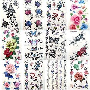 sheets temporary tattoos rose