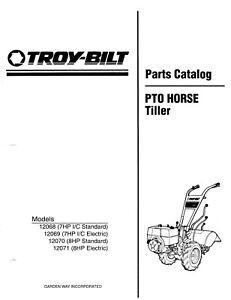 Troy Bilt Bolens PTO Horse Tiller 12070 12071 7&8 HP