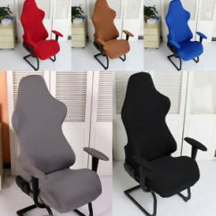 Office Chair Covers Ebay Portable Chaise Lounge Chairs Outdoor Cover Swivel Computer Armchair Seat Protector Image Is Loading