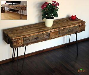 details sur etagere television meuble tv palettes euro table de bois hairpin legs rustique
