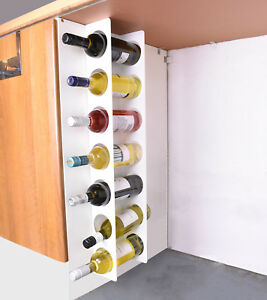 kitchen wine rack timer for hearing impaired under cabinet space filler 7 bottle holder unit image is loading