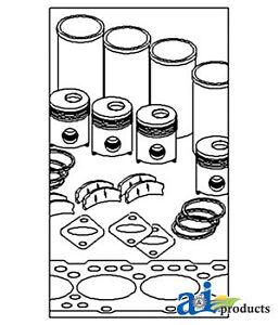 John Deere Parts MAJOR OVERHAUL KIT OK244 4010 (GAS EXCEPT