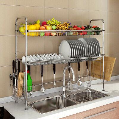 over sink dish drying rack drainer shelf stainless steel kitchen cutlery holder 804056361852 ebay