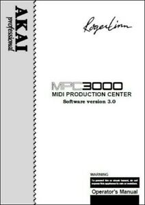 Akai MPC3000 MIDI Production Center Owner's Manual