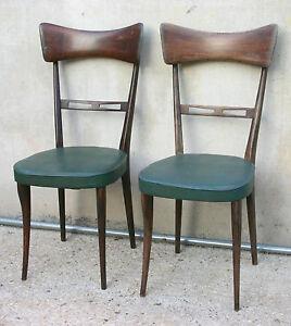 Sei sedie vintage degli anni 50 con puntali in ottone. Coppia Di Sedie Anni 50 2 Design Italiano Stile Modello Papillon Ebay