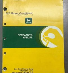 john deere 820 mower conditioner operators manual ebay [ 1200 x 1600 Pixel ]