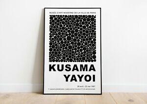 details about yayoi kusama exhibition poster yayoi kusama print modern art wall decor