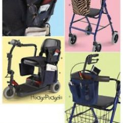 Wheelchair Accessories Ebay Alera Office Chair Review Retired Sewing Pattern Make Scooter Walker Bag Carrier Image Is Loading