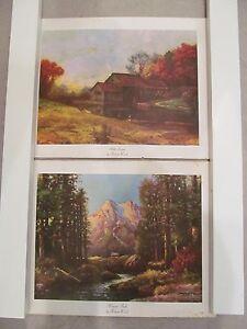 Robert Wood Prints : robert, prints, Vintage, Robert, Litho, Prints, Majestic, Peaks, Stream, Lot-2