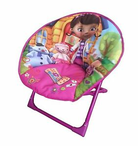 doc mcstuffin chair tripod camping disney folding moon soft padded for baby image is loading